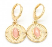 B-D3.1 E426-002 Earrings 10mm with 15mm Charm Gold