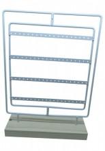 R-N6.1 PK328-012 Wood with Metal Earrign Display 40 pairs 35x25x7cm White