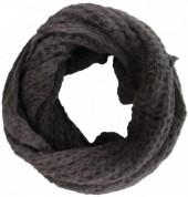 Y-D1.1  Knitted Loop-Col Scarf Grey