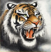 Q-L4.2 Z173 Diamond Painting Set Square Stones Full Tiger 30x30cm