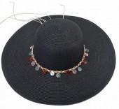 Y-F2.5 HAT210-002A Hat with Shells 43cm Black