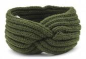 R-F2.1 H401-001G Knitted Headband Green