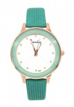 E-C3.1 WA001-014 Quartz Watch with PU Strap 35mm Green