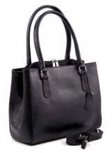 Q-I5.2 BAGE-911 Luxury Leather Bag 35x26cm Black