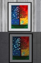 T-K8.1 YGSM34 Diamond Painting Full Set Glow In the Dark 35x25cm